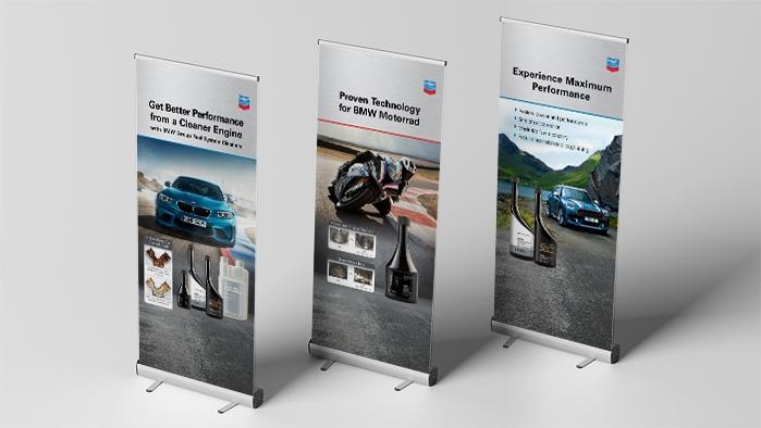 Chevron Techron BMW Vert Banners